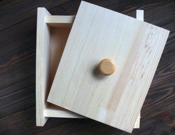 Форма для мыла с нуля квадратная (с крышкой) под нарезку
