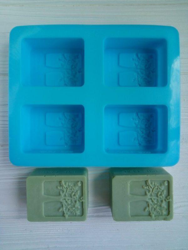 Форма силиконовая для мыла из силикона «Древо»