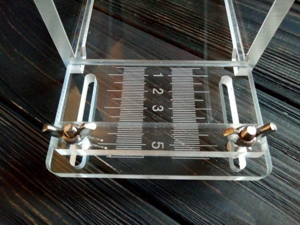 Разметка на стусло для мыла от 0 до 5,5 см позволяет нарезать кусочки желаемого размера