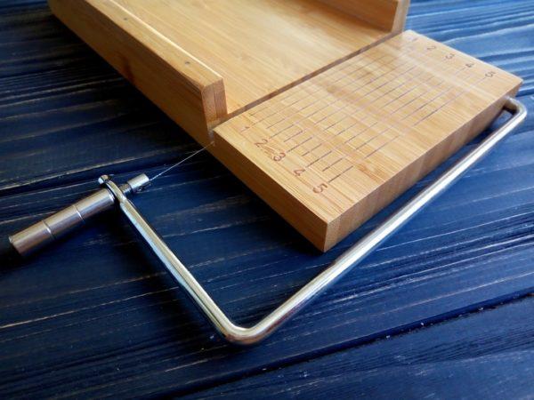 Струнный резак для мыла с нуля (деревянный) на одну струну