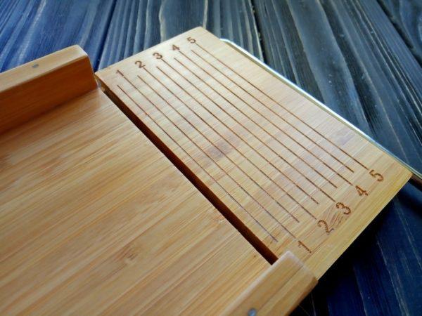 Резак для мыла деревянный однострунный