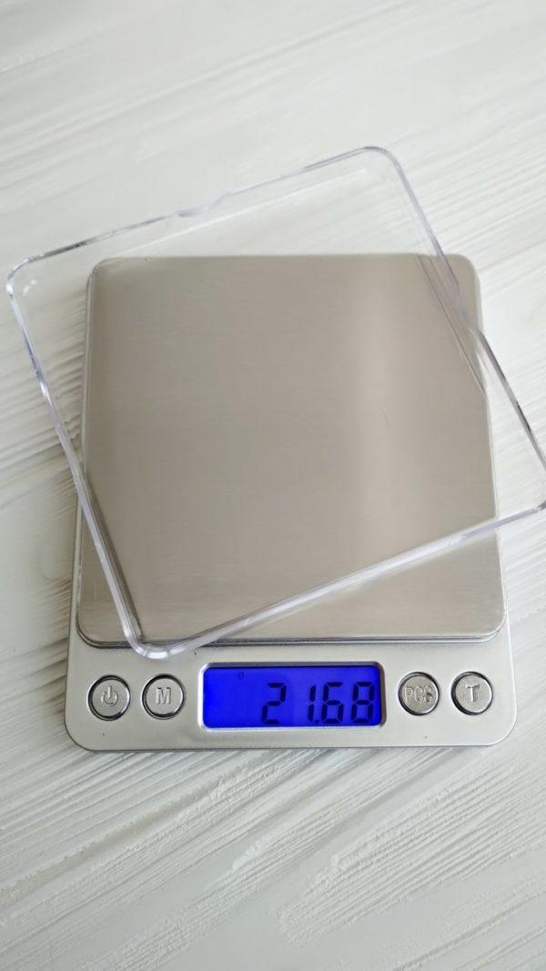 Электронные ювелирные весы 500г (0.01г) + 2 чаши