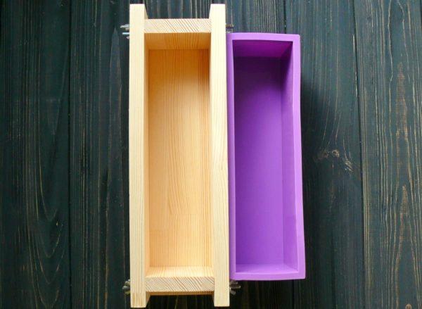 Форма силиконовая и деревянная для мыла с нуля на 1 кг масел