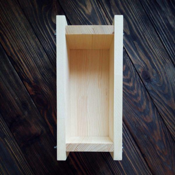 Дерев'яна форма для мила з нуля 1 кг олій фото 1