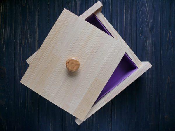 Форма квадратная для мыла под нарезку 22*22*6,5 см