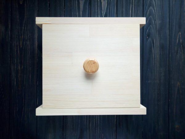 Деревянная форма для мыла квадратная с силиконом