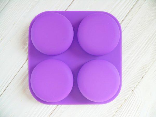 Форма для мыла силиконовая Круг 4 шт.
