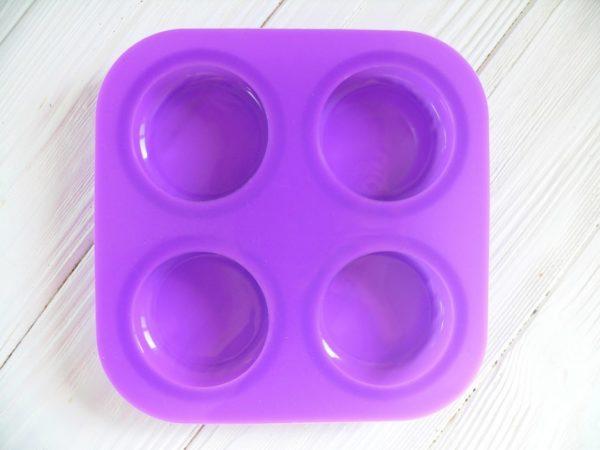 Силиконовая форма для мыла на 4 мыла