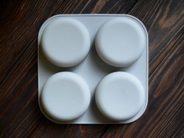 """Форма-планшет для мыла силиконовая """"Камни круглые"""" 4 шт."""