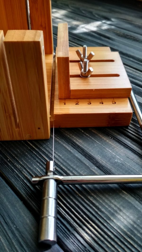 Резак для мыла бамбуковый стусло №3