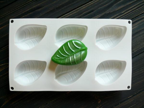 Форма для мыла Листик 6 шт.