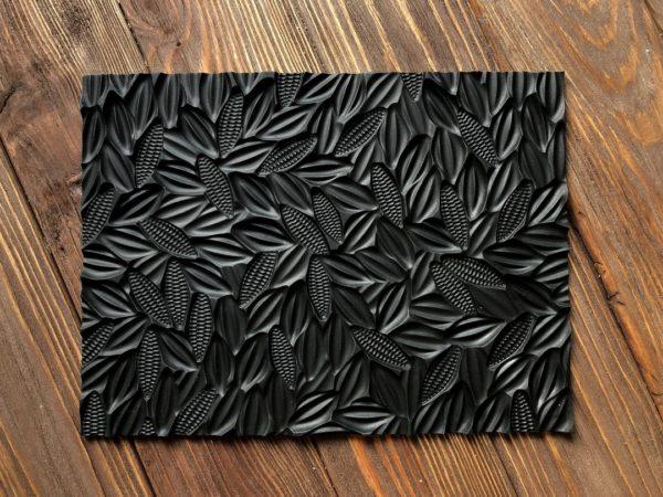 Силиконовый текстурный коврик для мыла с нуля Какао-бобы