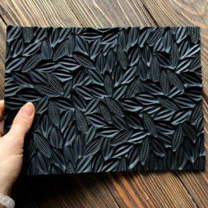 Силиконовый текстурный коврик для мыла Какао-бобы