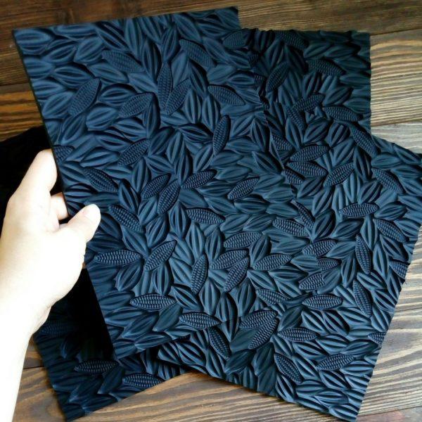 Силиконовый коврик для мыла с нуля Какао-бобы