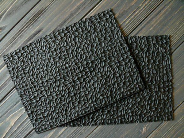 Коврик для мыла кофе силиконовый текстурный