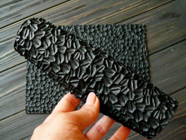 силіконовий текстурний килимок для мила кавові зерна