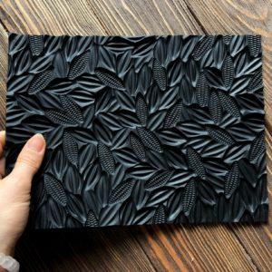 Силіконовий текстурний килимок для мила Какао-боби