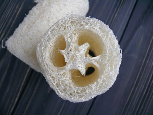 Люфа мочалка натуральна 10 см біла