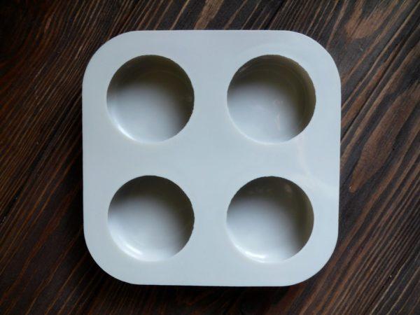 "Форма-планшет для мила силіконова ""Каміння кругле"" 4 шт."
