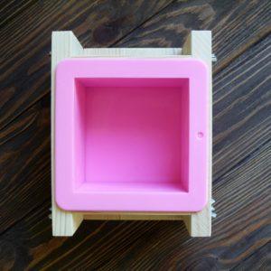 """Форма для мыла с силиконом """"Куб"""" 500 г"""