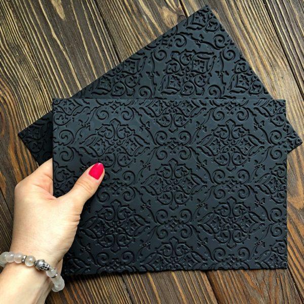 Силиконовый текстурный коврик Узоры