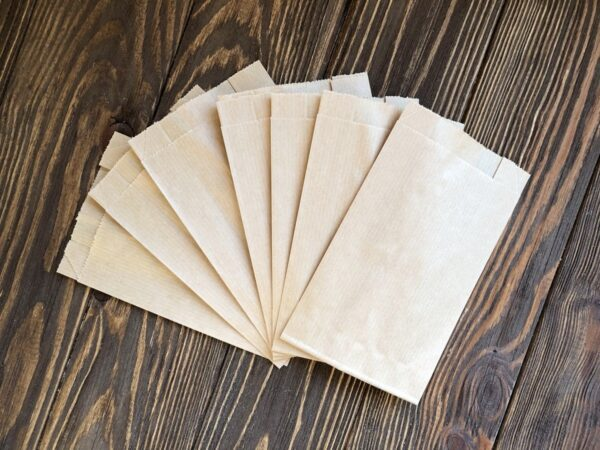 Бумажный пакет-саше 90*150*40 мм