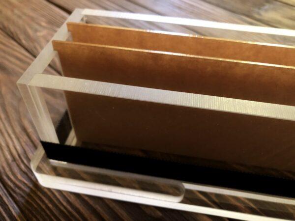 Форма из акрила с перегородками на 1 кг мыла