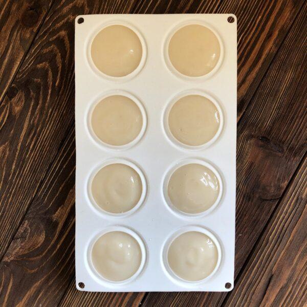 """Силиконовый планшет для мыла с нуля """"Камни круглые"""" 8шт"""