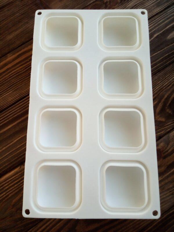 Форма для мыла Камни квадратные 8 шт.