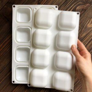 """Форма для мыла силиконовая """"Камни квадратные"""" 8 шт."""