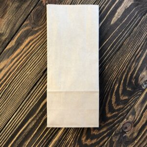 Бумажный крафт-пакет с дном 215x90x65 мм