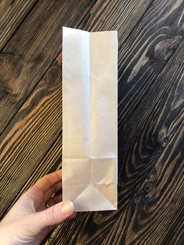Крафтовий пакет з дном 21,5х9х6,5 см