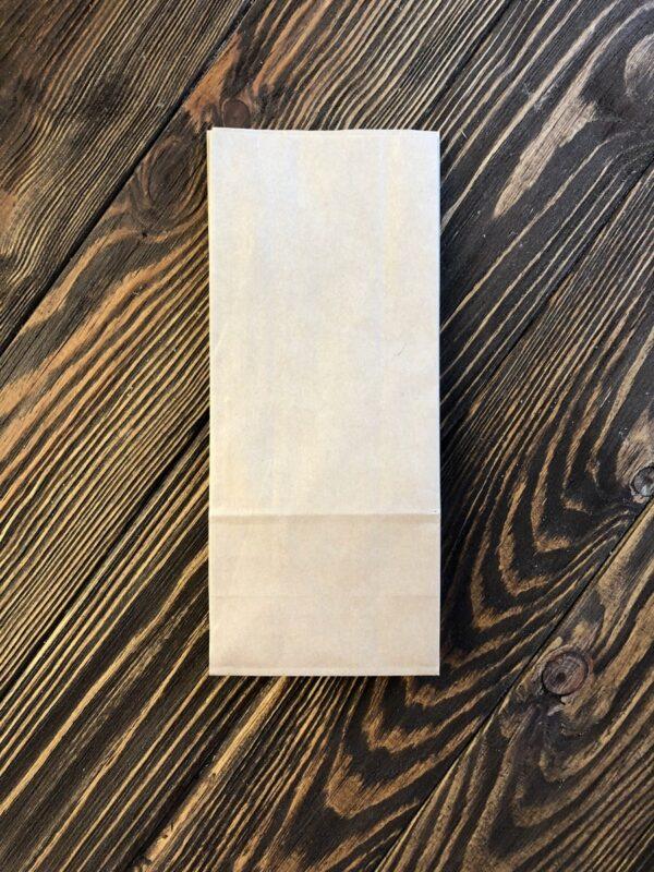 Паперовий крафт-пакет з дном 215x90x65 мм
