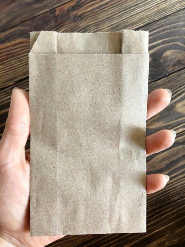 Паперовий пакет-саше 150*90*40 мм (100 шт.) для пакування мила