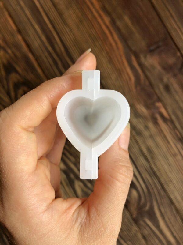 """Силиконовая форма для мыла тубус """"Сердце"""" 3D"""