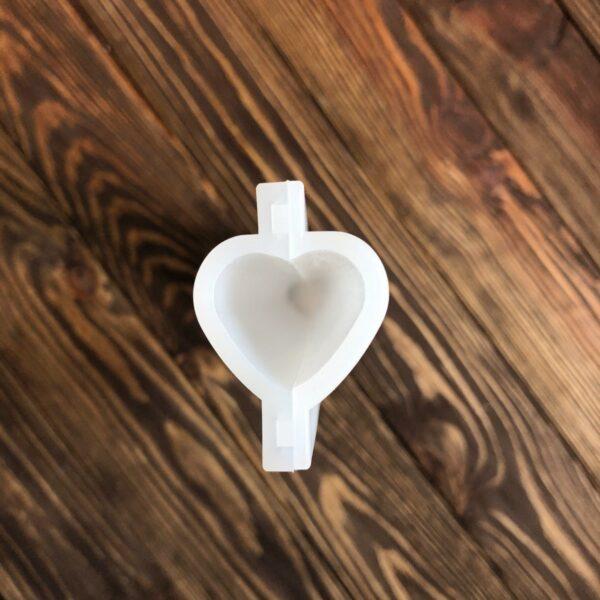 """Силиконовая форма тубус 3D """"Сердце"""" для мыла"""