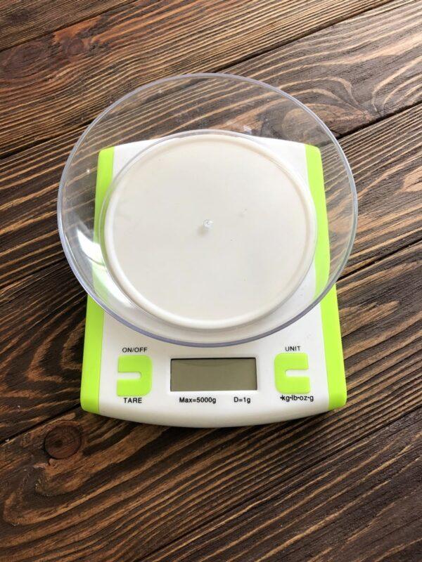 Электронные кухонные весы до 5 кг (0.1г) + чаша